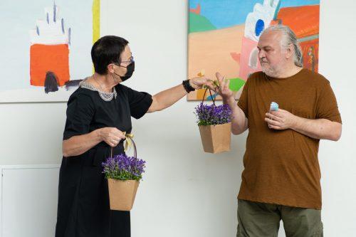 Gintaro Palemono Janonio tapybos parodos atidarymas Kelmės kultūros centre